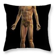 The Skeleton Throw Pillow