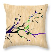 Tree Branch Collection Throw Pillow