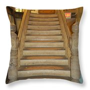 1800's Vintage Stairs Throw Pillow