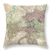 1801 Cary Map Of Austria Throw Pillow