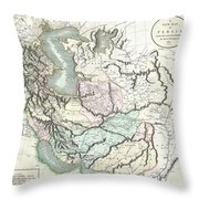 1801 Cary Map Of Persia  Iran Iraq Afghanistan Throw Pillow