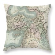 1801 Cary Map Of Turkey Iraq Armenia And Sryia Throw Pillow