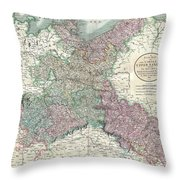 1801 Cary Map Of Upper Saxony Germany  Berlin Dresden Throw Pillow