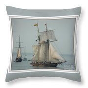 1812 Pride Of Baltimore II Throw Pillow by Marcia L Jones