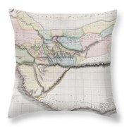 1813 Pinkerton Map Of Western Africa Throw Pillow