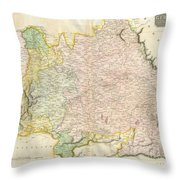 1814 Thomson Map Of Bavaria Germany Throw Pillow