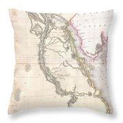 1818 Pinkerton Map Of Egypt Throw Pillow