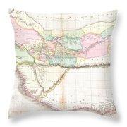 1818 Pinkerton Map Of Western Africa  Throw Pillow