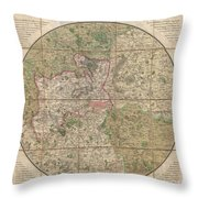 1820 Mogg Pocket Or Case Map Of London Throw Pillow