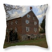 1823 North Carolina Grist Mill Throw Pillow