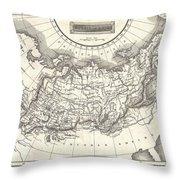 1826 Assheton Map Of Russia In Asia Throw Pillow