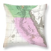 1827 Finley Map Of Egypt Throw Pillow