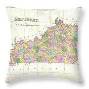 1827 Finley Map Of Kentucky Throw Pillow