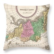 1827 Finley Map Of Russia In Asia Throw Pillow