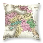 1827 Finley Map Of Turkey In Asia Iraq And Israel Throw Pillow