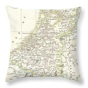 1832 Delamarche Map Of Holland And Belgium Throw Pillow