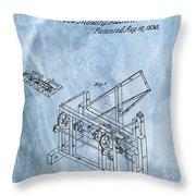 1836 Wood Molding Machine Throw Pillow