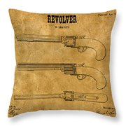 1837 Leavitt Revolver Patent Art 1 Throw Pillow