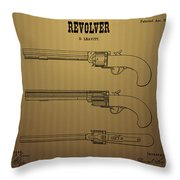 1837 Leavitt Revolver Patent Art 2 Throw Pillow
