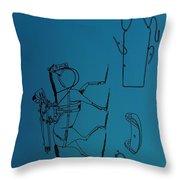 1837 Riding Saddle Patent Throw Pillow