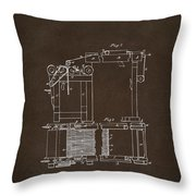 1844 Charles Goodyear India Rubber Goods Patent Espresso Throw Pillow