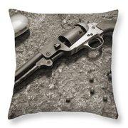 1851 Navy Revolver 36 Caliber - 2 Throw Pillow