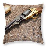 1851 Navy Revolver 36 Caliber Throw Pillow by Mike McGlothlen