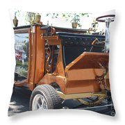1852 Cunningham Hearse With 383 Chevy Stroker Engine Throw Pillow