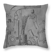 1856 Revolver Patent Throw Pillow