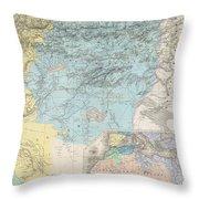 1857 Dufour Map Of Constantine Algeria Throw Pillow