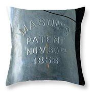 1858 Masons Jar Throw Pillow