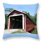 1860 Ceylon Bridge Throw Pillow