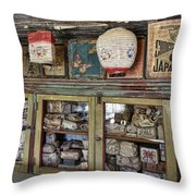 1860's Chinese Mercantile Shop - Montana Throw Pillow