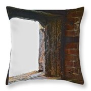 1861 Cannon Turret Fort Point San Francisco Bay Throw Pillow
