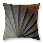 1861 Fort Point Tower Stairs San Francisco Bay Throw Pillow