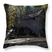1868 Cable Mill At Cades Cove Tennessee Throw Pillow