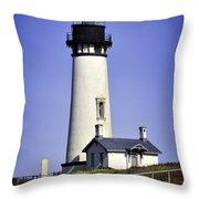 1872 Historic Lighthouse Throw Pillow