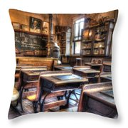 1879 School House - Knott's Berry Farm Throw Pillow