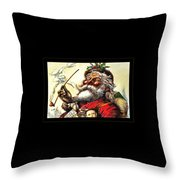 1881 Santa Throw Pillow