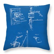 1881 Taylor Camera Obscura Patent Blueprint Throw Pillow