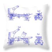 1885 Roller Skate Patent Blueprint Throw Pillow