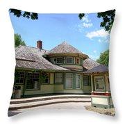 1887 Depot Throw Pillow