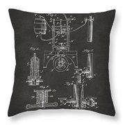 1890 Bottling Machine Patent Artwork Gray Throw Pillow