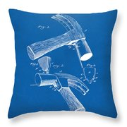 1890 Hammer Patent Artwork - Blueprint Throw Pillow