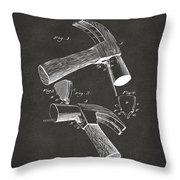 1890 Hammer Patent Artwork - Gray Throw Pillow