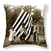 1890 The Young Patriots Throw Pillow by Historic Image