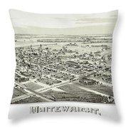 1891 Vintage Map Of Whitewright Texas Throw Pillow