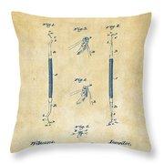 1896 Dental Excavator Patent Vintage Throw Pillow