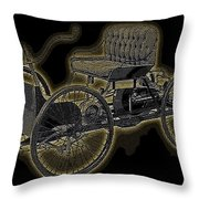 1896 Quadricycle Henry Fords First Car Throw Pillow