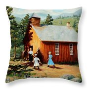 1896 School House Throw Pillow